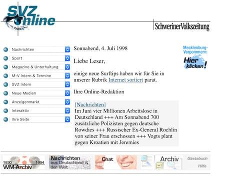 SVZ.de Online 4.7.1998