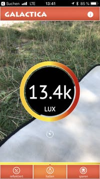 galactica luxmeter app
