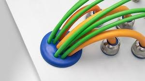 Multi-Membran Kabeldurchführung im Hygienic Design (FDA- und EHEDG-konform)