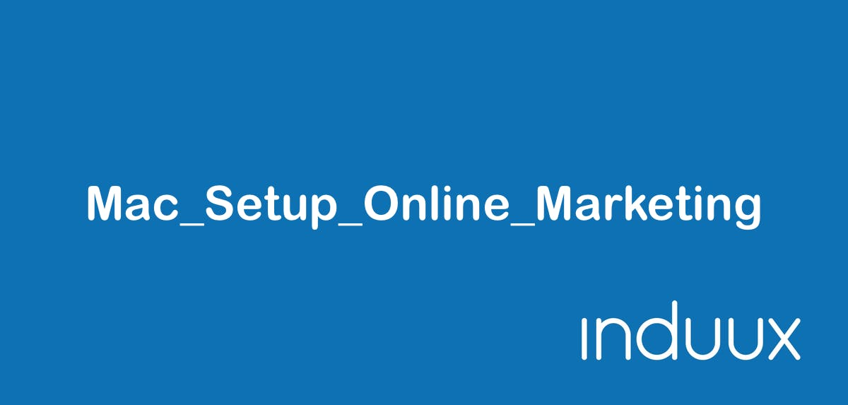 Mac Setup Online Marketing